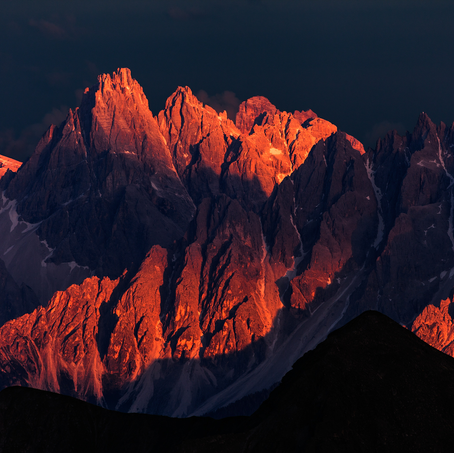Dreischuster Spitze, Dolomites from Antholz Valley, Italy