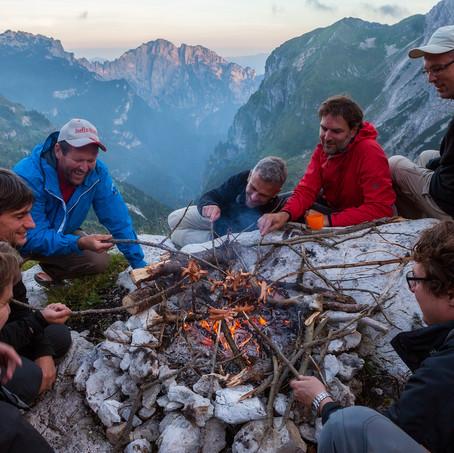 Sausages, Bivacco Feltre Bodo, Bellunese Dolomites, Italy