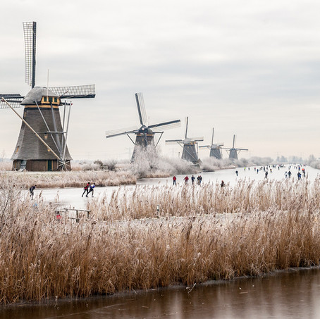 Winter Landscape, Kinderdijk, Zuid-Holland, The Netherlands