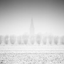 Church in the Mist, Groede, Zeeuws-Vlaanderen, Netherlands, 2019
