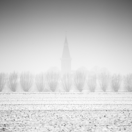 Church in the Mist, Groede, Zeeuws-Vlaanderen, Netherlands, 2019