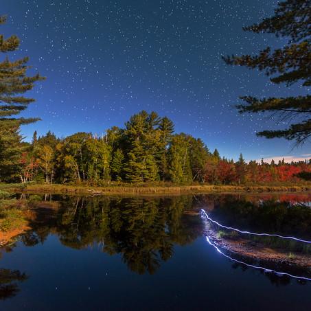 Round Lake at Night, Adirondacks, Upstate New York, USA