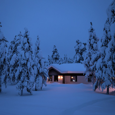 House in the Snow, Lapland, Finland