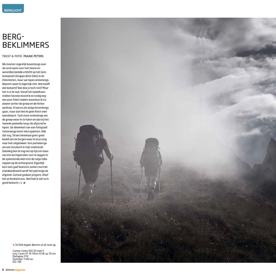 Fine art mountain photo in Bergen Magazine