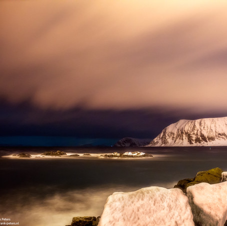 Cold Night, Honningsvag, Finnmark, Norway
