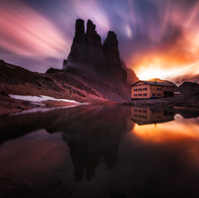 Light Explosion, Vajolet Towers, Dolomites, Italy, 2016