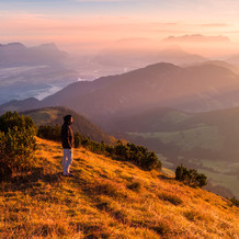 Selfie at Sunrise, Gratlspitz, Tyrol, Austria
