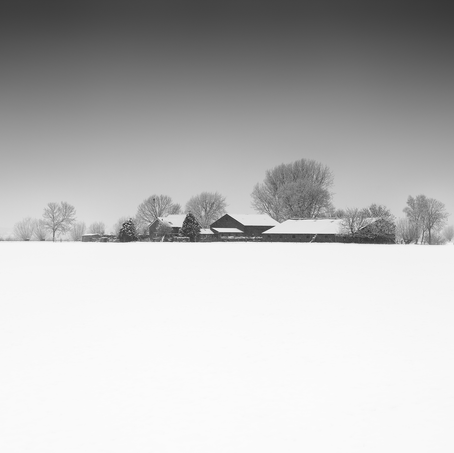 Farm in the Snow, Zeeuws-Vlaanderen, Netherlands, 2019