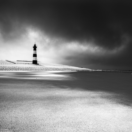 Lighthouse after Snow Storm, Breskens, Zeeuws-Vlaanderen, The Netherlands, 2017
