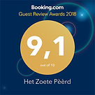 Bookingcom review awards, B&B Het Zoete