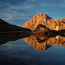 Golden Balance, Baita Segantini, Dolomites, Italy