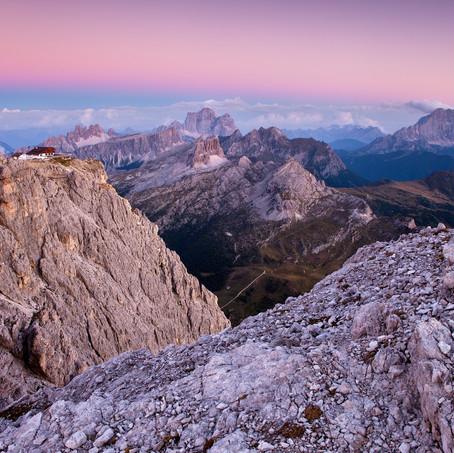 Pink Evening, Lagazuoi, Dolomites, Italy