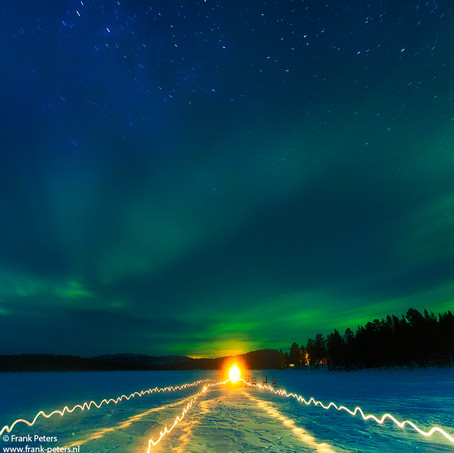 Attracted, Lake of Menesjarvi, Lapland, Finland