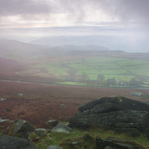 View from Stanage Edge, Peak District, England