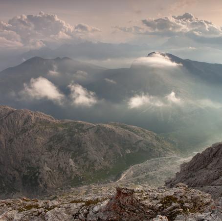 Falzaregos Mist, Passo Falzarego, Dolomites, Italy