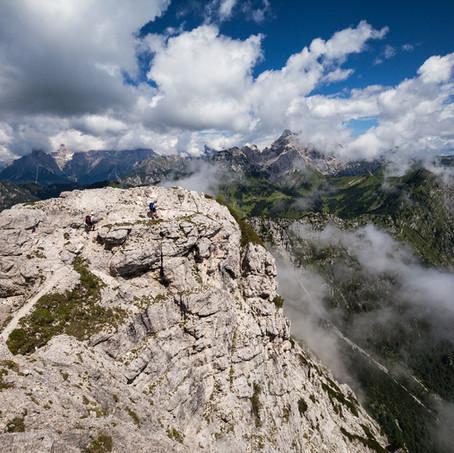 Walking along the Edge, Bellunese Dolomites National Park, Belluno, Italy