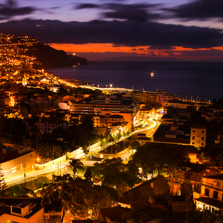 Sunrise over Funchal, Madeira, Portugal, 2016