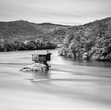 House in the river Drina, Serbia, 2017