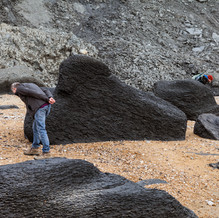 Fossil Hunters, Stonebarrow Cliffs, Jurassic Coast, England