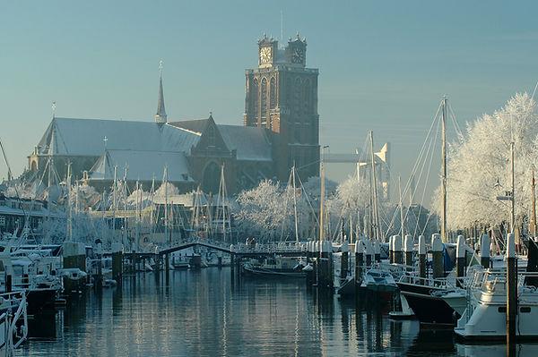 Grote Kerk vanaf Nieuwe Haven, Dordrecht