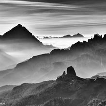 September Morning, Cinque Torri, Dolomites, Italy, 2012