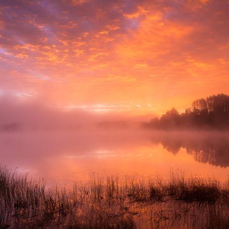 Sky on Fire, Lake Harris, Adirondacks, USA