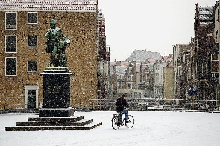 Scheffersplein, Dordrecht, Winter.jpg