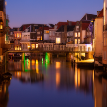 Wijnbrug at Dusk, Dordrecht, Zuid-Holland, The Netherlands, 2014