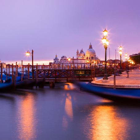 Atmospheric Venice, St. Mark's Square and Basilica di Santa Maria della Salute, Italy