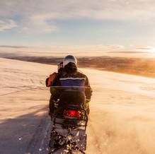 Snowmobile trip, Ailigas, Karigasniemi, Finland