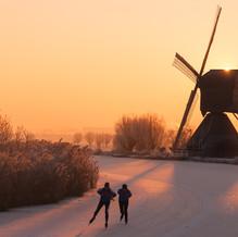 Dutch Landscape, Kinderdijk, Zuid-Holland, The Netherlands