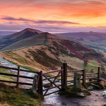 Sunrise, Mam Tor, Peak District, England