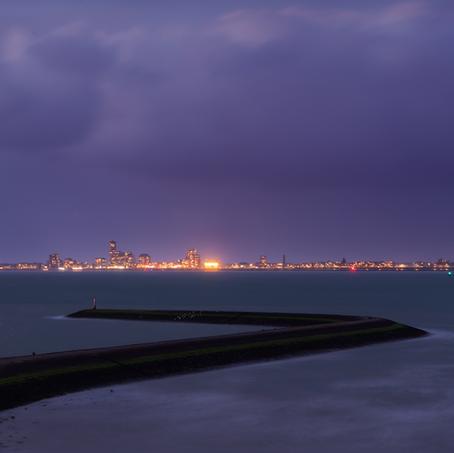 Skyline Vlissingen, Breskens, Zeeland, The Netherlands
