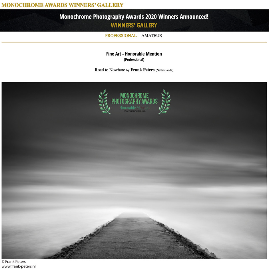 Honorable Mentions in International Monochrome Awards