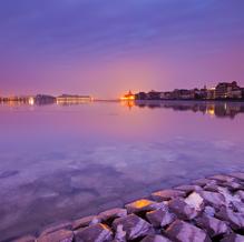 Purple Morning, Skyline Dordrecht, Oude Maas, The Netherlands, 2012