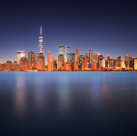 Long Exposure Time Lapse, Skyline New York, USA