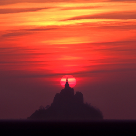 Last Light, Mont St. Michel, Normandy, France, 2007