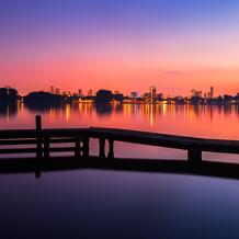 Skyline Rotterdam, Kralingse Plas, The Netherlands, 2014