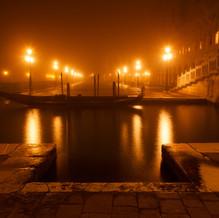 Misty Night at St. Mark's Square, Venice, Italy