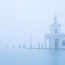 Punta della Dogana di Mare in the Mist, Venice, Italy