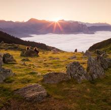 View at Sunset, Refuge du Larry, Pyrenees, France