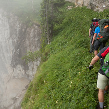 Live along the Abyss, Path of the Monk, Bellunese Dolomites, Italy