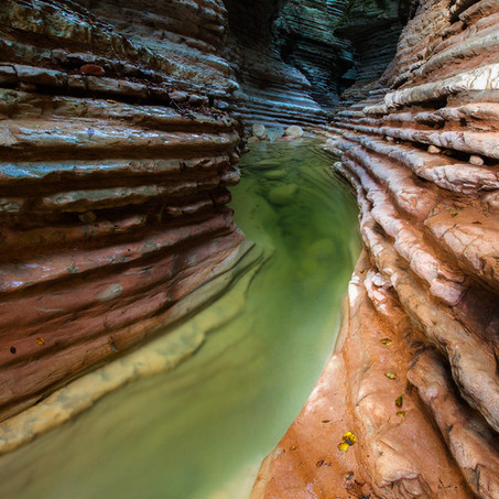 Canyon, Brent de l'Art, Dolomites, Italy