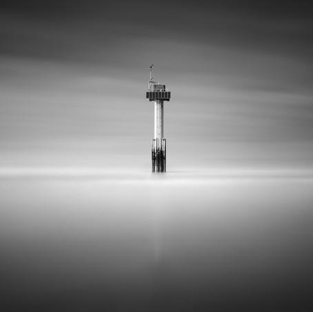 Isolated in Spotlight, Cadzand-Bad, Zeeuws-Vlaanderen, Netherlands, 2020