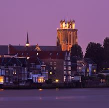 Skyline Dordrecht, Grote Kerk with Zwijndrechtse Brug, Zuid-Holland, The Netherlands, 2011