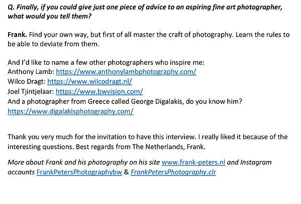 Interview met Frank Peters door George D
