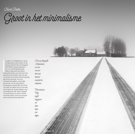 Minimalistische Fotografie, Zeeland Glossy Magazine