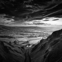 Sunrise over the Winnats Pass, Peak District, England, 2014