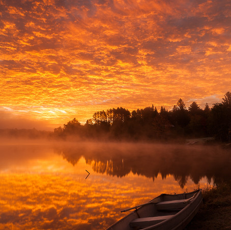 Sunrise, Lake Harris, Adirondacks, USA