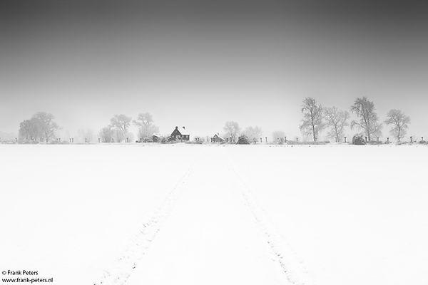 Landschapsfotografie, Dijkhuisje in de Sneeuw